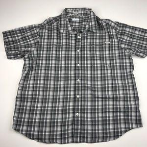 Columbia Short Sleeved Plaid Button Shirt